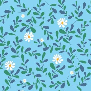 矢量圖 eps 寫意花卉 清新風 滿身圖案