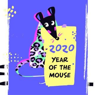 矢量图 eps 老鼠 局部图案