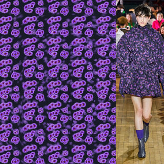 矢量圖 psd 滿身圖案 紫色花卉 寫意花卉 休閑風 美洲風格 大牌圖案