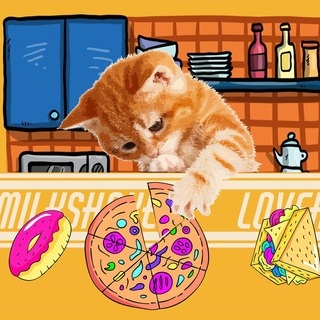 矢量图 psd 局部图案 厨房 披萨 甜甜圈 三明治
