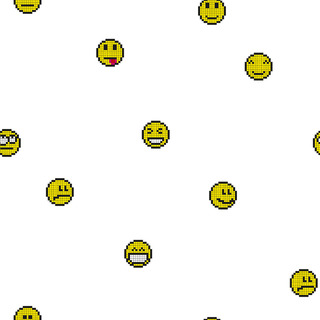 矢量圖 eps 表情包   emoji  笑臉 滿身圖案 休閑風