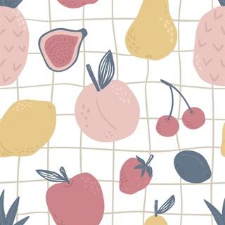 矢量图 eps 水果 四方连续 满身图案