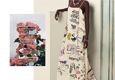 心形图案在少淑女品牌款式设计中占有较高比例,通过珠饰组合、马赛克效果、气球漂浮或者提花工艺来做体现。
