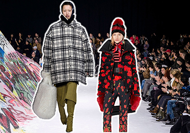 2018秋冬女裝時裝周的秀場上,夾克款式成為不可缺少的單品,色彩與面料的質地都較為豐富,其中也不斷涌現出更具時尚張力的印花面料與工藝手法。讓夾克呈現出多角度的美感,成為此次秀場上不可缺少的亮點之一。