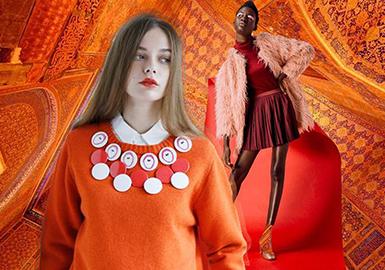 2019春夏女装毛衫色彩趋势预测--橙红色系