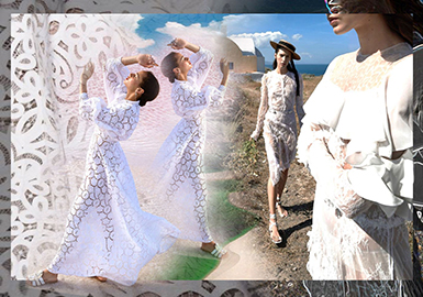 2020春夏女装蕾丝面料趋势预测--浪漫假日