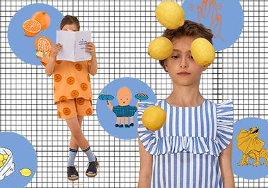 文藝風的清新插畫式圖案備受設計師品牌青睞,是當下童裝的主流趨勢,Milk & Biscuits、MiniRodini、Tinycottons這三個以圖案為主的設計師品牌,用簡單的線條和色塊講述充滿趣味的小故事。
