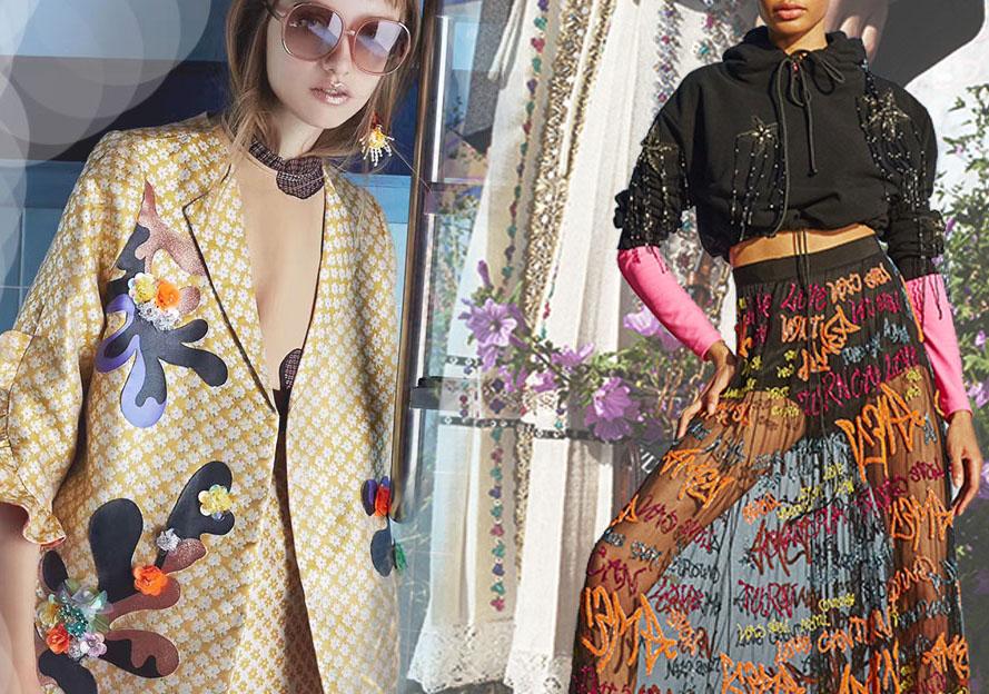 2020春夏女装图案工艺趋势预测--闪亮少女
