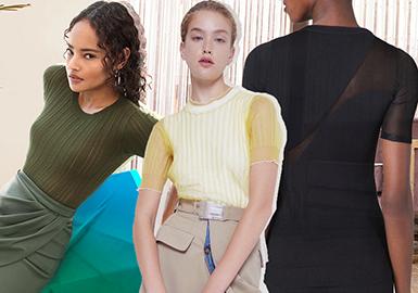 2020春夏女装毛衫廓形分析--简约针织T