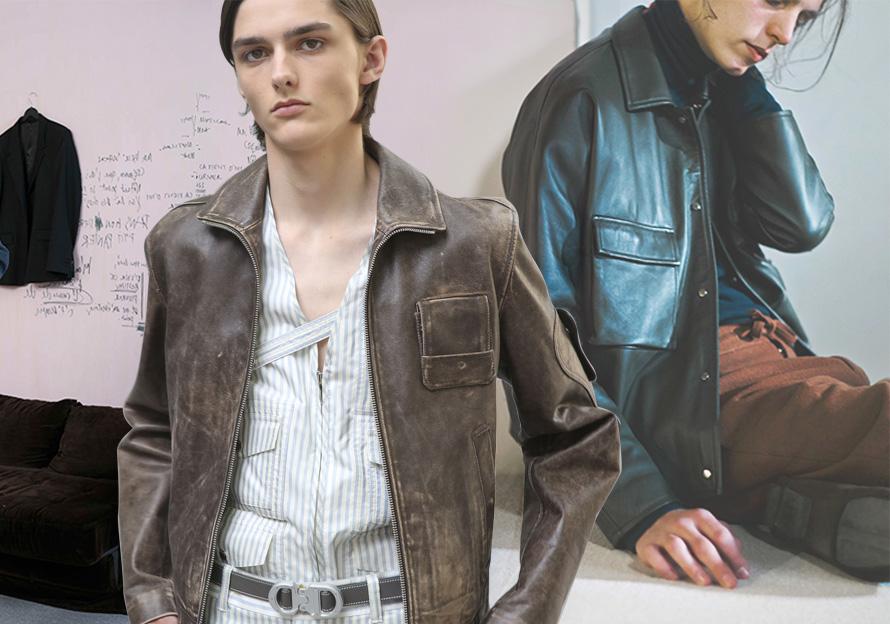 2020春夏男裝皮衣廓形趨勢預測--單皮夾克(商務休閑)