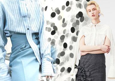 2020春夏女装衬衫绸缎面料趋势--雅致&通透