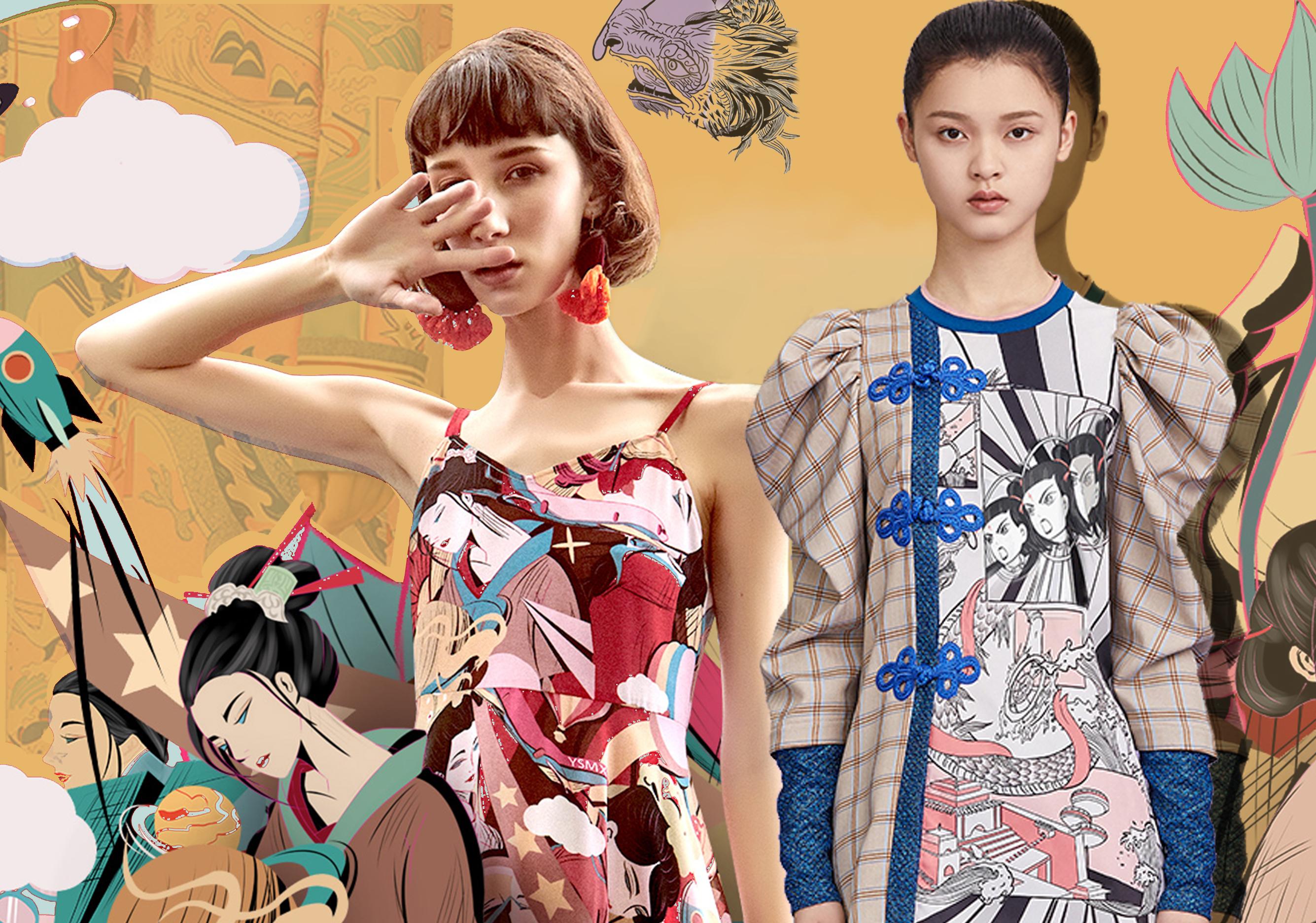 2020春夏女装中国风图案趋势-中式漫画