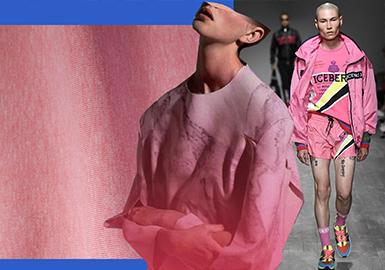 2020春夏男装T恤面料流行色彩预测 -- 活力亮彩