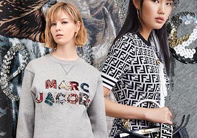 2020春夏女装毛衫图案工艺--大牌字母