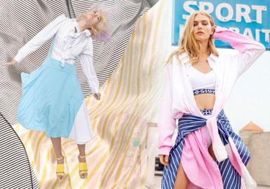 2020春夏女装衬衫连衣裙面料趋势--干练&极简