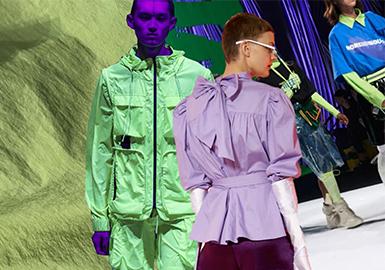 为期一周的10月上海时装周已降下帷幕, 作品发布将一路既往的继续支持中国设计品牌的精英力量。一周的发布大秀上精彩程度爆表,这其中既有实力品牌的品质绽放,也有不断涌现的后起之秀。吸引了无数时尚博主、IP,名媛、艺术家、演艺界名人共襄盛举。天鹅白、荧光绿、香芋紫、警示紫、数据蓝这些19春夏的重点色彩也频频在此次时装周上崭露头角。另外从POP后台综合数据上看,这几个色彩与2018春夏时装周作对比,明显有上升趋势的呈现。
