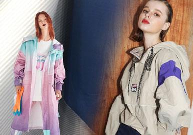 2020春夏女裝外套工裝水洗棉面料趨勢--街裝千禧運動