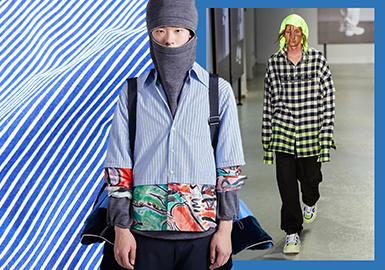 2020春夏男装衬衣面料趋势预测 -- 革新条格