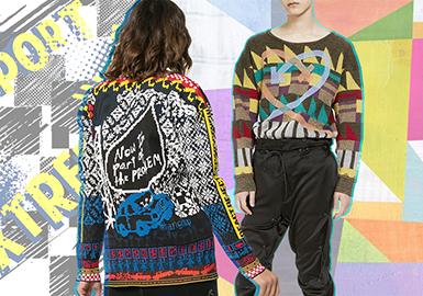 2020早春女装毛衫图案趋势--极繁浪潮