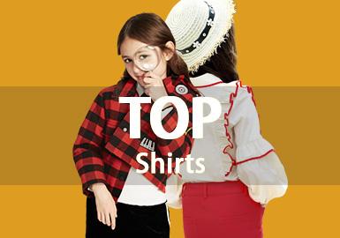 (左)Choco.el--韩国中小童品牌,主张简单、时尚的设计风格,小碎花图案的点缀及甜美感十足的设计细节让款式越发俏皮可人。(右)Loredana--欧美中大童品牌,传统的意大利制造为女孩们带来优雅与乐趣。高低下摆、蝴蝶结等细节使衬衫款式更添新意。