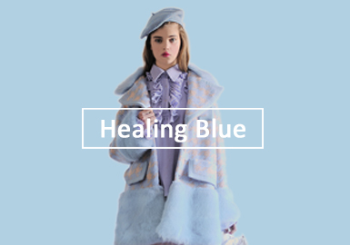 2020?#21512;?#22899;装皮衣皮草色彩演变趋势--治愈蓝