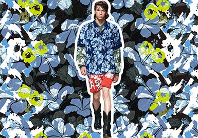 2020春夏男装图案趋势预测--浪漫花卉