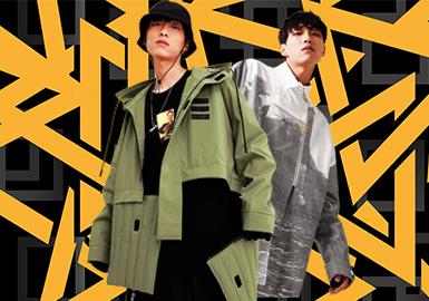 无论是绒毛夹克、还是运动机能夹克在春季都十分受消费者青睐,随着国潮的兴起,整体风格以运动街头风格为主。