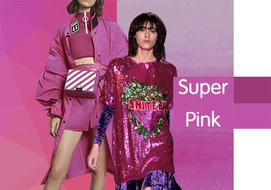 2020春夏女装T恤色彩趋势--超级粉色