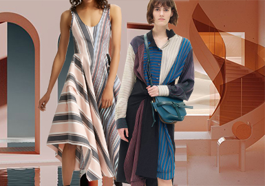 2020春夏女装连衣裙面料趋势--百变条纹