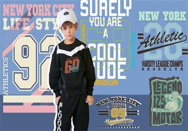 潮酷字符--男童童裝圖案趨勢