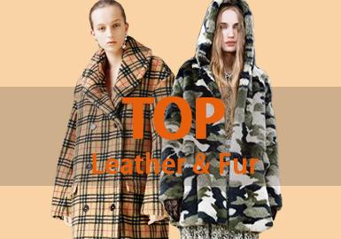 1月女装皮衣皮草款式以先锋潮牌、简欧中淑风格为主导,夹克依旧是运用最多的单品,皮衣也是最常用的品类。