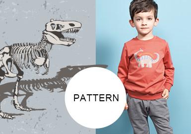 恐龍世界--童裝圖案趨勢