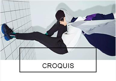 CROQUIS速写2019春夏系列灵感来源于大卫·鲍威(David Bowie)以及他的太空畅想。系列以实验性的眼光,打破人们对传统运动服的刻板印象,用一种更为优雅的方式诠释。在服装的剪裁与细节上延续速写经典的功能性结构廓形,为追求品质、时髦的消费者提供更有试验性的创新产品。
