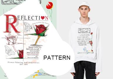 字母花卉--2020早秋男装图案趋势预测