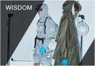 "Wisdom 2009年创立于台湾,品牌一直以Urban Outdoor为核心风格,打造未来感与时尚度完美融合的时尚单品。2019春夏,品牌再次以承接宇宙发展的世界观为灵感,并以""宇宙快递有限公司"" WISDOM UNIVERSE LOGISTICS为主题展开设计,在未来风和科技感中维持都会旅行的基底,并延续 ""轻机能、便旅型(TRIP EASY FUNCTION BEAUTY)"" 的风格元素。"