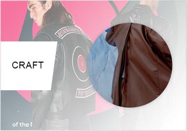 新趣后幅設計--男裝皮衣工藝趨勢