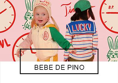 """源自于韩国的童装品牌BEBE DE PINO于2010年上市,蕴含着北欧风格的BEBE DE PINO在西班牙语?#23567;?#23567;松鼠""""。本着""""LIKE NO OTHER STORE IN THE WORLD""""为口号,为使品牌有?#21734;?#19968;无二的设计,2019的春款申请了?#21450;?#33879;作权版权,而鲜亮的色?#39318;?#21512;迸发出更多的时尚创意让BEBE DE PINO在2019?#21512;?#31461;装款式中显得格外抢眼。"""