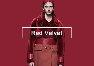 甜蜜紅絲絨--女裝皮衣皮草色彩趨勢