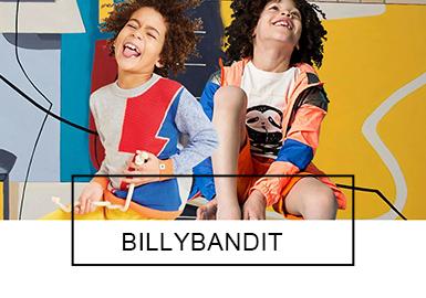 """法国时尚童装品牌Billybandit是一个真正属于小男孩的品牌。以""""想象力""""作为品牌座右铭,设?#21697;?#26684;大胆?#39029;?#28385;幻想,让男孩们在想象的世界里尽情遨游。在19ss中,Billybandit将酷炫的运动装与复古学院风相融合,并加入众多有趣的插画?#21450;福?#36776;识度极高,让个性的男孩在这个夏日更加舒?#39318;?#22312;、无?#24418;?#26463;。"""