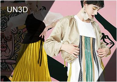 UN3D的品牌名稱來自于三個概念,分別是UN STANDARD,UN SIMPLE,UN SIMILAR。UR在英文中有否定之意,荻原桃子(品牌設計師)希望藉由UN3D表現對于時代、流行、常識與固定概念所保持的好奇心態,并將自由奔放的個性與情感反應衣著的設計之中。