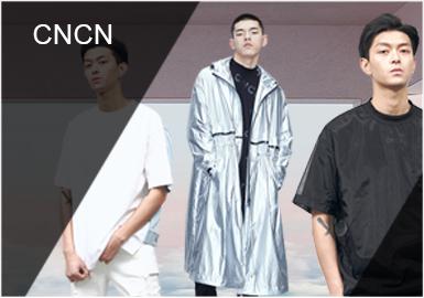 CNCN創辦于2012年,是一個以全新視角研究中國90后年輕人著裝趨勢的男裝品牌。本季原漫威金牌主畫師Walter Antonio McDaniel合作推出膠囊系列單品,在2019春夏款中多以拼接、口袋、織帶裝飾等設計手法表現。以黑色為主色調,以突出質感和設計點。