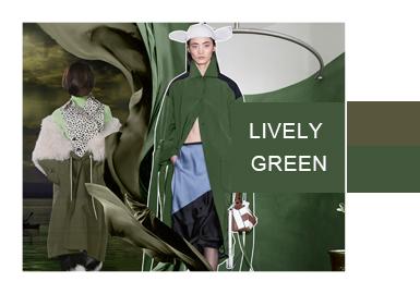 活力新生綠--女裝色彩演變