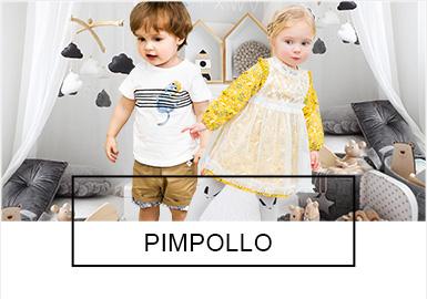 Pimpollo是近年来关注度?#32454;?#30340;韩国婴幼童品牌,简单和易搭配是本品牌的特点。本季?#21512;?#22260;绕着度假、复古和运动风主题,通过褶皱荷叶边、泡泡袖、简笔趣味?#21450;?#21644;海军风等细节让整个?#21512;?#22823;放异彩,叠穿效果的款式充分展现出婴幼童可爱甜美的特点,值得关注的是套装款式,已越来越受到重视,市场占比也逐年增?#21360;?> <i class=