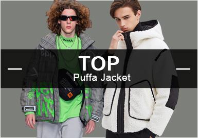 4月份款式庫中棉羽絨單品流行方向分析,時尚休閑依然占據主導地位,街頭潮牌和商務休閑類占比風格懸殊不大。圖案元素在棉羽絨單品中運用不大,而拼接工藝得到一定的運用。亮色系仍然受到各大設計師品牌的青睞。色塊拼接、時尚機能類單品依然受歡迎,商務品牌加入時尚元素,進軍時尚界。