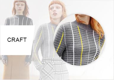 條紋演變--女裝毛衫工藝趨勢