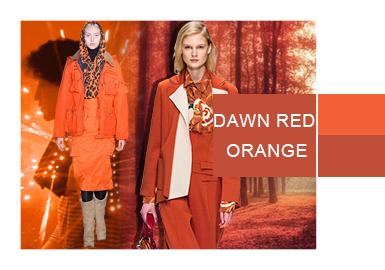 破晓红橙--女装色彩演变