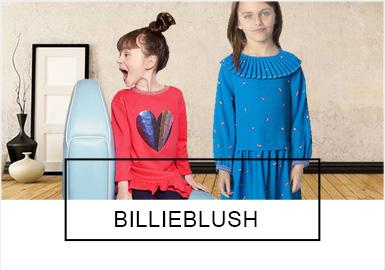Billieblush創建于2012年,由法國設計團隊精心打造。品牌十分注重產品的質感與細致度,每個設計上的小細節都堅持為孩子帶來驚喜,19秋冬Billieblush以珠片、立體裝飾物、荷葉以及彩虹等元素為核心,精心設計的款式甜美浪漫且俏皮可愛,是小公主與小精靈的完美結合,夢幻的Party Style將為每一位小公主留下最美好的回憶。