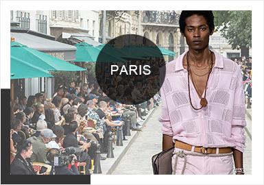 2020春夏巴黎男装周带来一场无性别时代下的浪漫旅程,与2019春夏重工、靓丽运动色系相比,工艺上追求更加内敛细腻的表达,用粉蜡色奠定柔和的基调。度假风依旧是春夏秀场的主要风格趋势,用简洁的款式表达自由舒适的生活追求,针法和提花工艺与往季相比更细致考究,毛衫与其他单品在颜色、风格上的搭配更加灵活新颖。