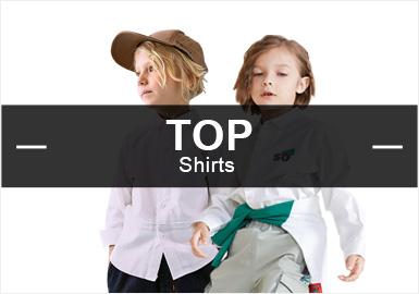 根據POP6月份男童襯衫的數據庫分析,時尚休閑比例有所上升占比最高,日韓風格的占比減少,僅為5%。在圖案方面格紋保持穩定,條紋以及字母元素均有少量上升。工藝方面拼接占據榜首,繡花緊隨其后。