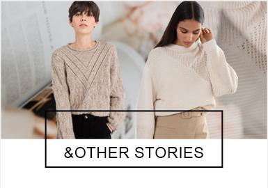 & Other Stories是H&M母公司Hennes & Mauritz AB旗下的高端女装品牌,创建于2012年,主打文艺典雅的古典风格,为都市精英女?#28304;?#36896;更美好的时尚价值。